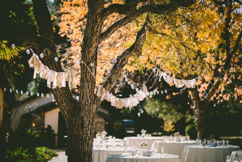 Hochzeit im Garten mit Dekoration von BELLAN Catering Dresden